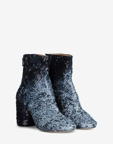 Maison Margiela Sequin round-toe ankle boots Size