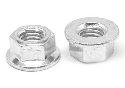 50 Class 8 Serrated Hex Flange Nuts DIN 6923 Zinc RoHS CR+3 8mm M8-1.25