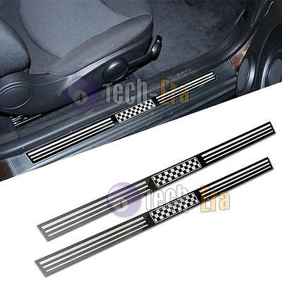 Checkered Stainless Steel Door Sills Entry-level Strips for MINI Cooper R56 R57