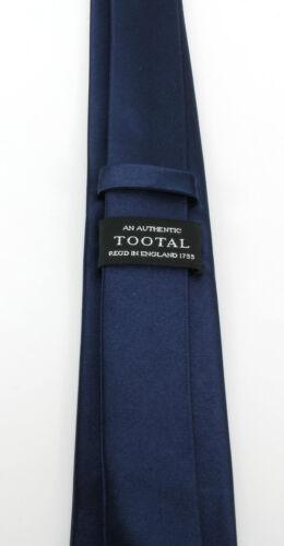 Authentique TOOTAL pour homme Mod plaine cravate Skinny de soie tissée en noir bleu marine /& rouge