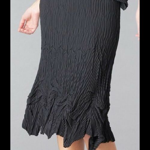 Babette waterfall pleated skirt XS black