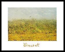 Vincent van Gogh Das Weizenfeld Poster Bild Kunstdruck im Alu Rahmen 24x30cm