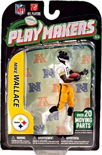 NFL Playmakers Series 3 Mike Wallace Steelers 4in Action Figure McFarlane Toys
