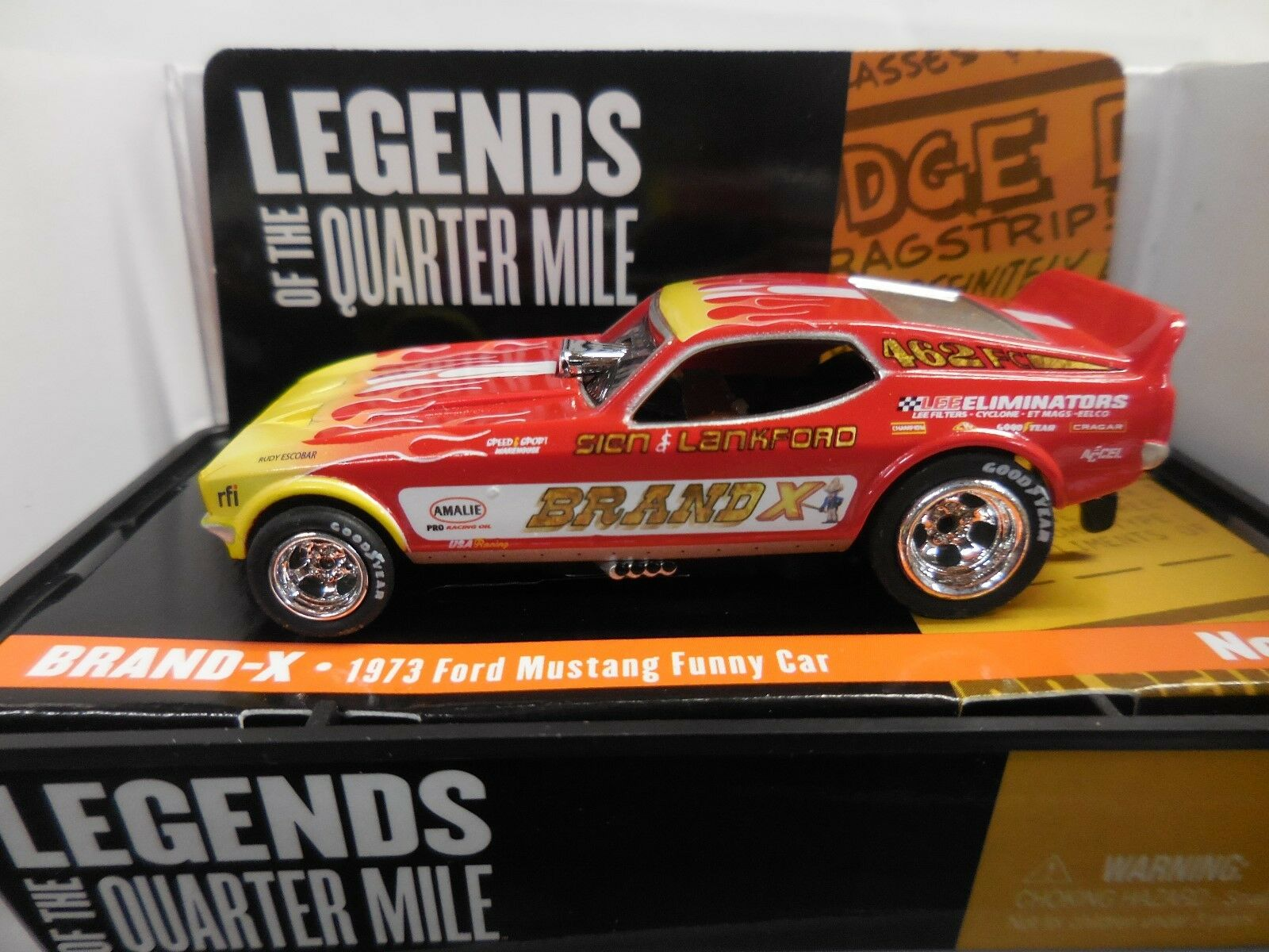 AUTO WORLD  Brand X '73 Ford Mustang Funny Car  In Jewel Case FITS AFX, AW