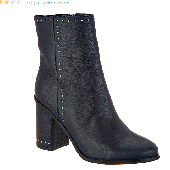 Marc Fisher Studded Leather Ankle Boots Navy Dark bluee Piazza Women's Size 6