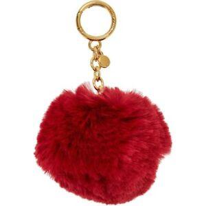 Genuine MICHAEL KORS Cherry Fur Pom Pom Keyring   Key Fob - Gift ... 260a3c073638