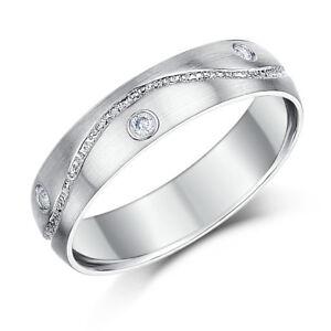 c923cd2e12a9 La imagen se está cargando 9-Ct-Oro-Blanco-Diamante-Set-Anillos-Alianza-