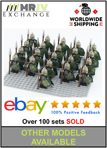 21-Minifigures-LordRohan-Army-Viking-Spears-Shield-Rings-Toys-Block-Custom-U