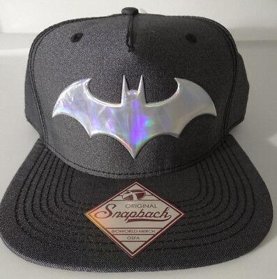 Batman Lenticular Bill Dc Comics Snap Back Hat Nwt