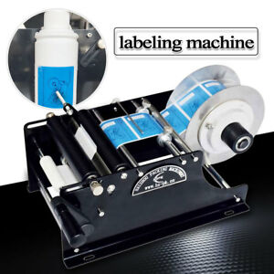 Semi Automatic Round Bottle Label Paste Labeling Machine Labeler