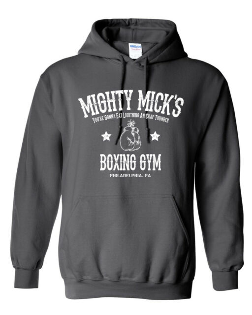 Men/'s Mighty Micks  Boxing Hoodie Funny Retro Fight Ring Gym Gloves Club Rocky
