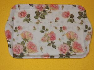 Ambiente 1x Tablett Sommer Blumen Klatschmohn Melamin 13 x 21 trays Märienkäfer