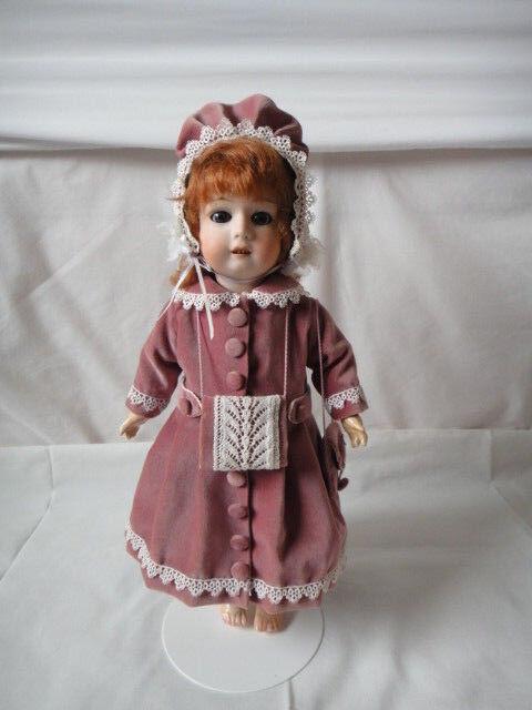 Gebruder Heubach Character Doll 8192 Alemania 15 Pulgadas alrojoedor de 1914