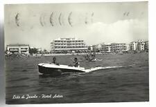 VECCHIA CARTOLINA BARCA A MOTORE LIDO DI JESOLO HOTEL ASTOR SPEDITA NEL 1961