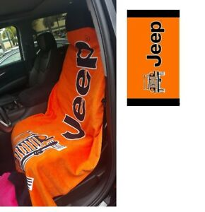 Seat Armour Orange Beach Towel Seat Cover For Jeep Cj Wrangler