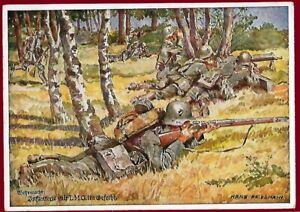 German WW 2 Third Reich postcard WEHRMACHT