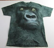 The Mountain GORILLA FACE All Over Print Tie Dye T Shirt Size XL