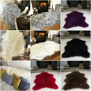 Image Is Loading Fluffy Thick Modern Faux Fur Fake Non Slip