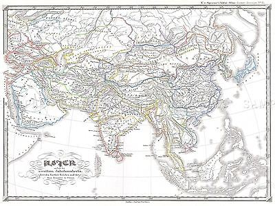 GEOGRAPHY MAP ILLUSTRATED ANTIQUE LECONTE PARIS LARGE POSTER ART PRINT BB4360A