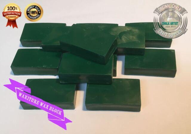 NEW - #CWg15 - GREEN - ANTIQUING WAX BLOCK furniture finishing repair scratch