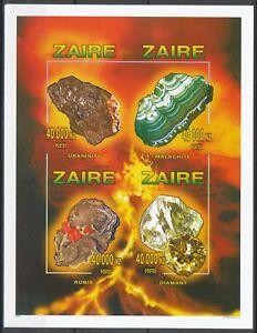 [220] Zaire Bloc 75A** Minéraux - non dentelé. Superbe. Cote : 44 €