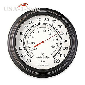 Image Is Loading 10 Inch Outdoor Indoor Home Garden Thermometer In