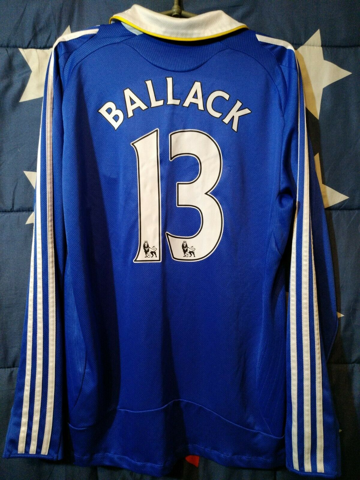 Diuominiione M Chelsea 20082009 Home Footbtutti lungo Sleeve Shirt Jersey Btuttiack  13