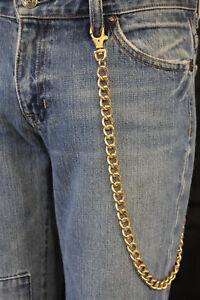 New Men Gold Wallet Chain Metal Fashion KeyChain Biker Classy Style Punk Rocker