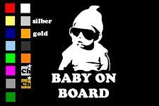 BABY ON BOARD Auto Aufkleber Sticker 15cm x 10cm Fun shocker Kind LKW