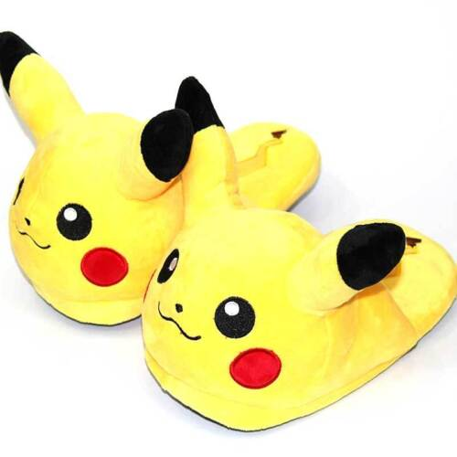 Anime Snorlax Gengar Leafeon Winter Slippers Soft Warm Fluffy Home Shoes Sandals