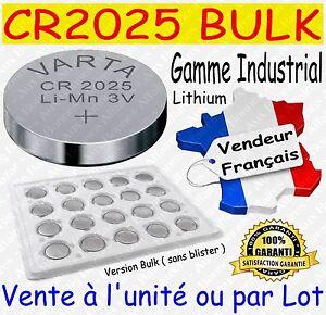 Piles boutons VARTA CR2025 - Disponibles aussi : CR2016 CR2032 / AAA LR03 AA LR6