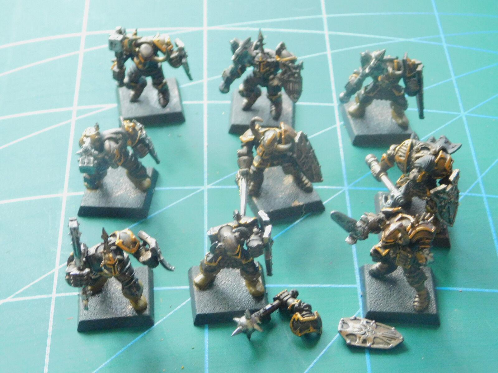 9 warhammer 40k dungeons space marine painted plastic figures