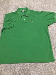 Lacoste-Mens-Green-Crocodile-Logo-Short-Sleeve-Polo-Size-7
