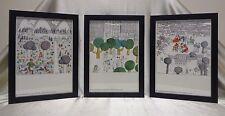 Set of 3 Signed Norddeutscher Lloyd Bremen (German Co.) Colored Lithographs