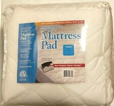 Biddeford Queen Heated Mattress Pad With 2 Controllers Safety Auto