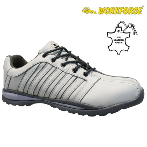 MENS WORKFORCE SAFETY WORK BOOTS MIDSOLE STEEL TOE CAP SHOES TRAINERS HIKER SIZE