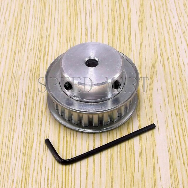 XL Type XL24T Aluminum Timing Belt Pulley 24 Teeth 6.35mm Bore for Stepper Motor