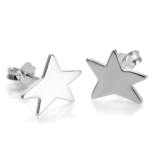 Sterling Silver Star Stud Earrings Stars Studs Space Sun