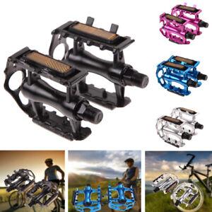 "1 Pair BMX MTB Aluminium Alloy Mountain Bike Bicycle Cycling Pedals Flat 9//16/"""
