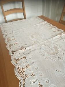 Fine Details About Shabby Chic Cottage Tablecloth Vintage Vinyl Table Runner Floral White Cover Download Free Architecture Designs Remcamadebymaigaardcom
