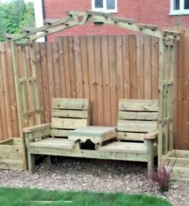 Details About Arch Pergola Without Love Bench And With Planters