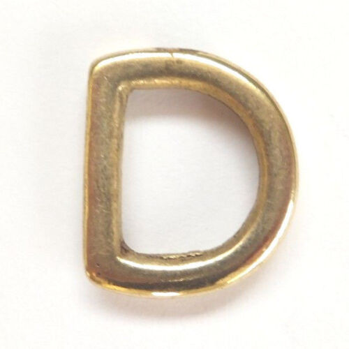 """5//8/"""" SOLID CAST BRASS D rings Dog Bag Strap Leathercraft Heavy Duty 15 mm"""
