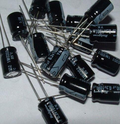 5 X Rubycon Radial Condensador Electrolítico 100uf 35v Yk Serie