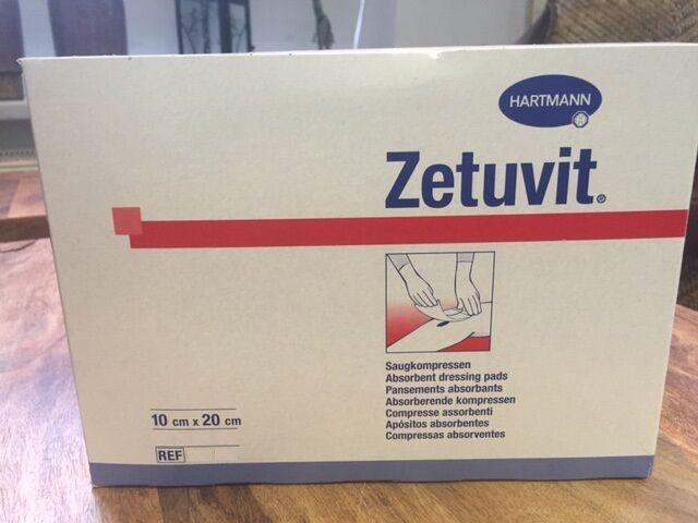 EB - ZETUVIT Saugkompressen steril 10 x 20 cm 25 St. - PZN 02724340