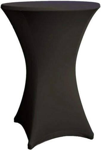 Standing Table Cover Black for 80-86 cm Diameter Stretch
