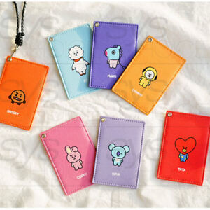 BTS-BT21-Official-Authentic-Goods-PU-Strap-Card-Wallet-7Characters-by-Kumhong