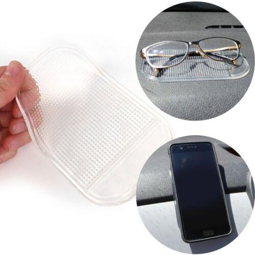 2x CAR DASH ANTI SLIP MATS Clear Van Dashboard Grip Pad GPS//Phone//Coins Holder