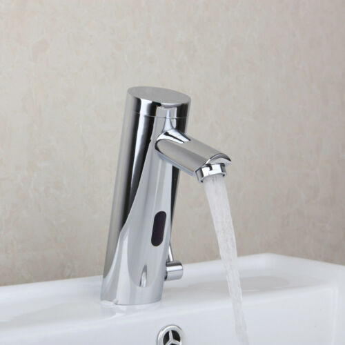 Brass Touchless Bathroom Basin Sink Automatic Sensor Faucet Hands Free Mixer Tap