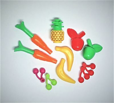 Lego Food Cherries Banana Apple Carrot Fish 41003