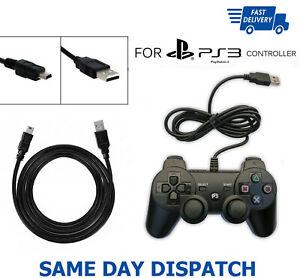 3 M Usb Chargeur Câble Data Sync Plomb Pour Sony Ps3 Playstation 3 Contrôleur Uk-afficher Le Titre D'origine Riche Et Magnifique